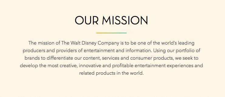 Disney slogan