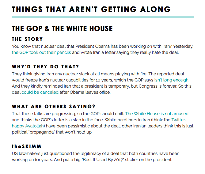 TheSkimm newsletter