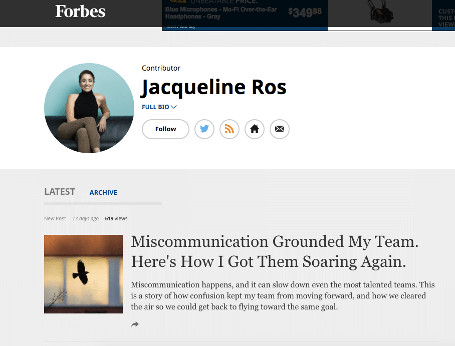 Forbes bio about Jacqueline Ros