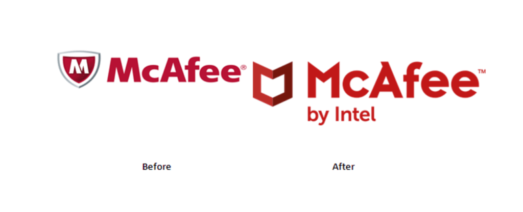 McAfee logo difference