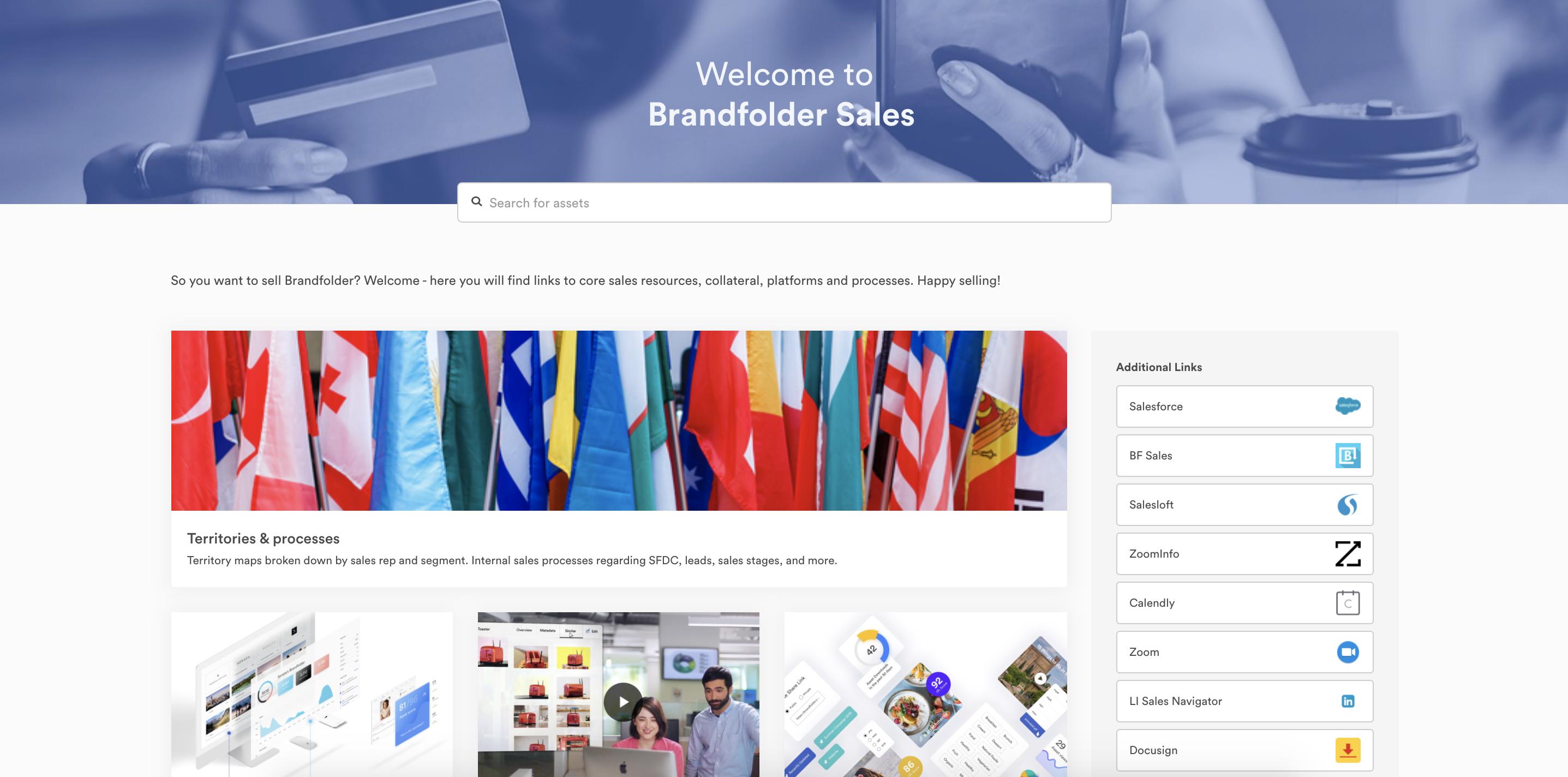 Brandfolder Sales Portal