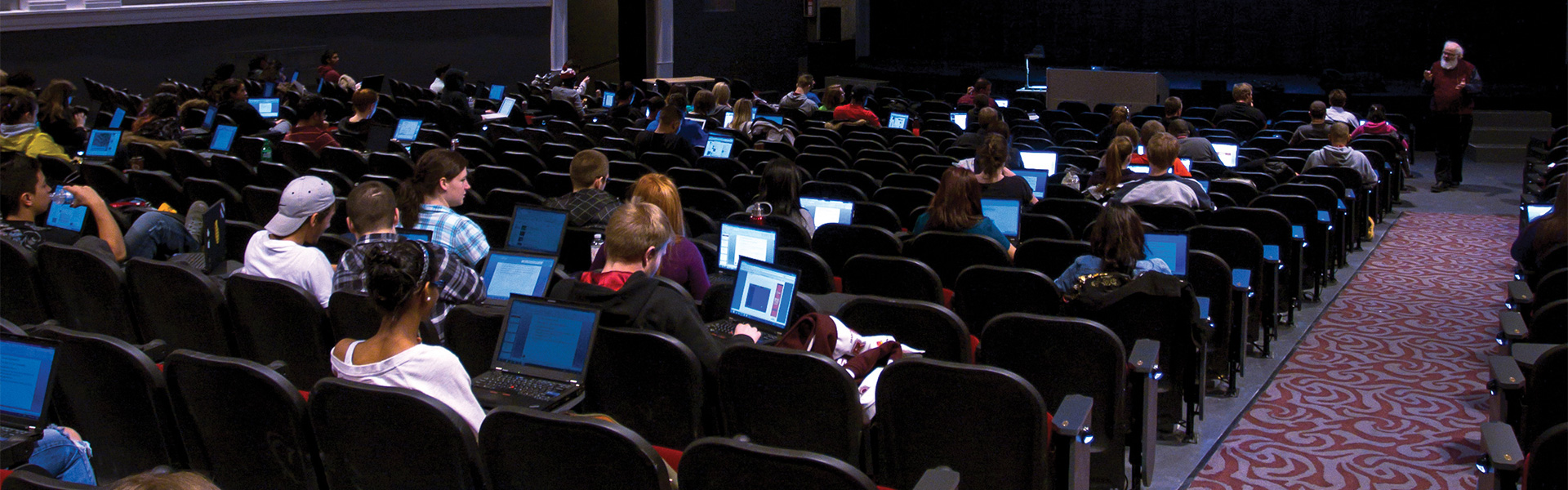 Students in the Regent Theatre lecture hall