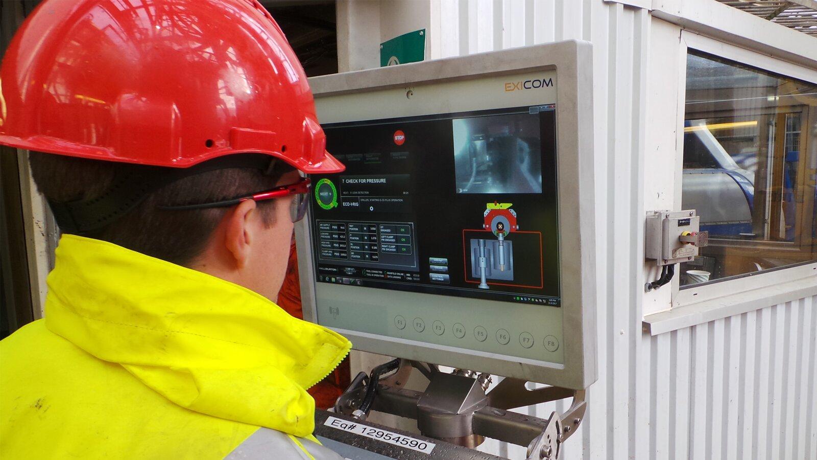 HMI Panel to control e-cd Plus equipment