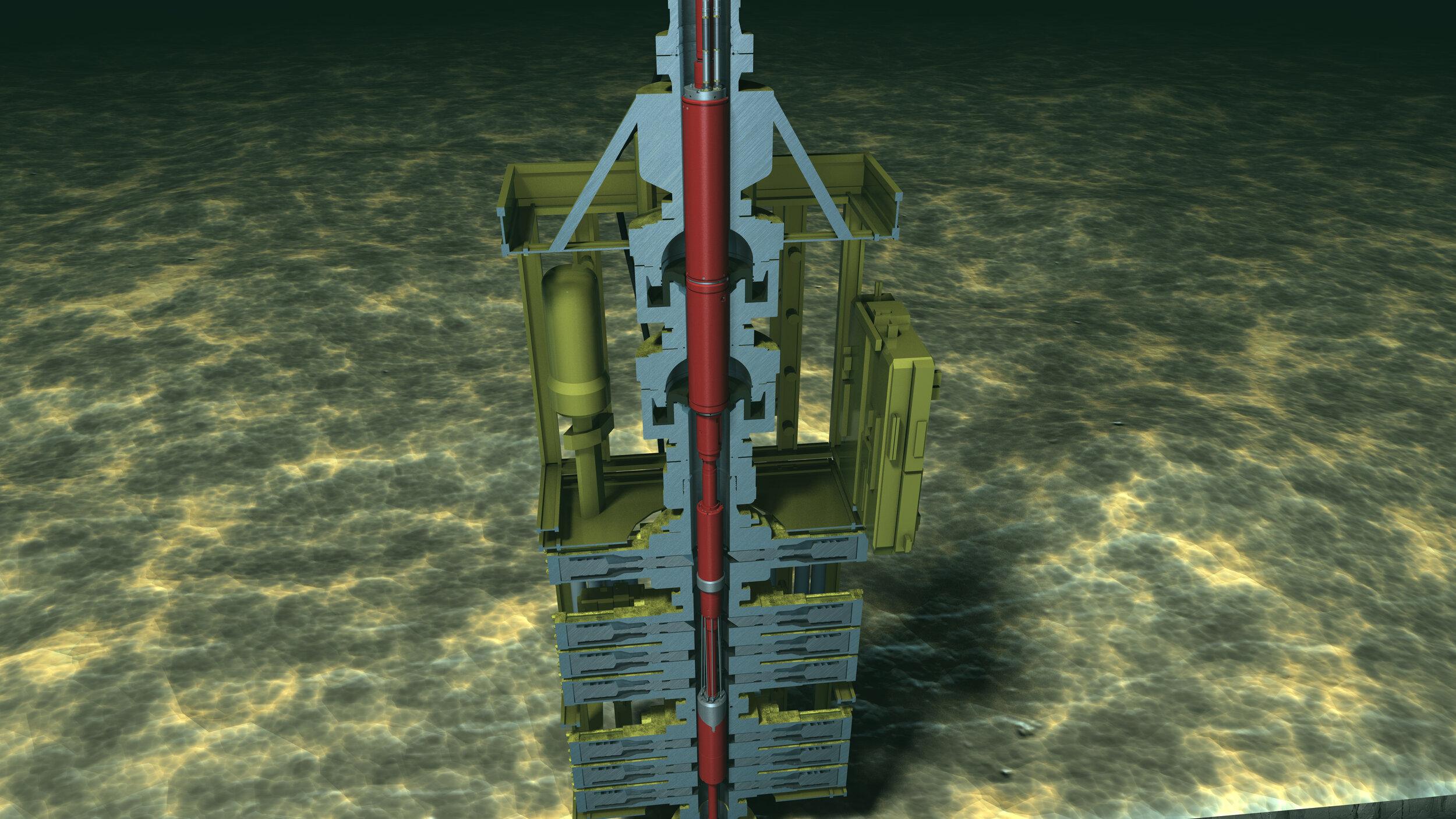 安全到达深水储层