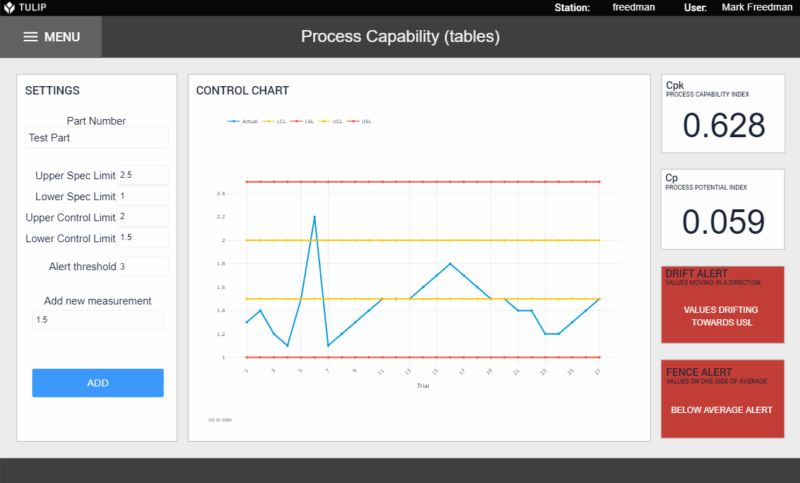 Image of Process Capability app