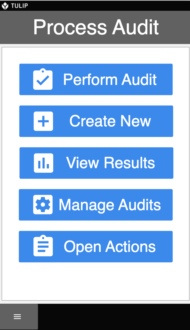 Image of Process Audit Checklist app for mobile phones