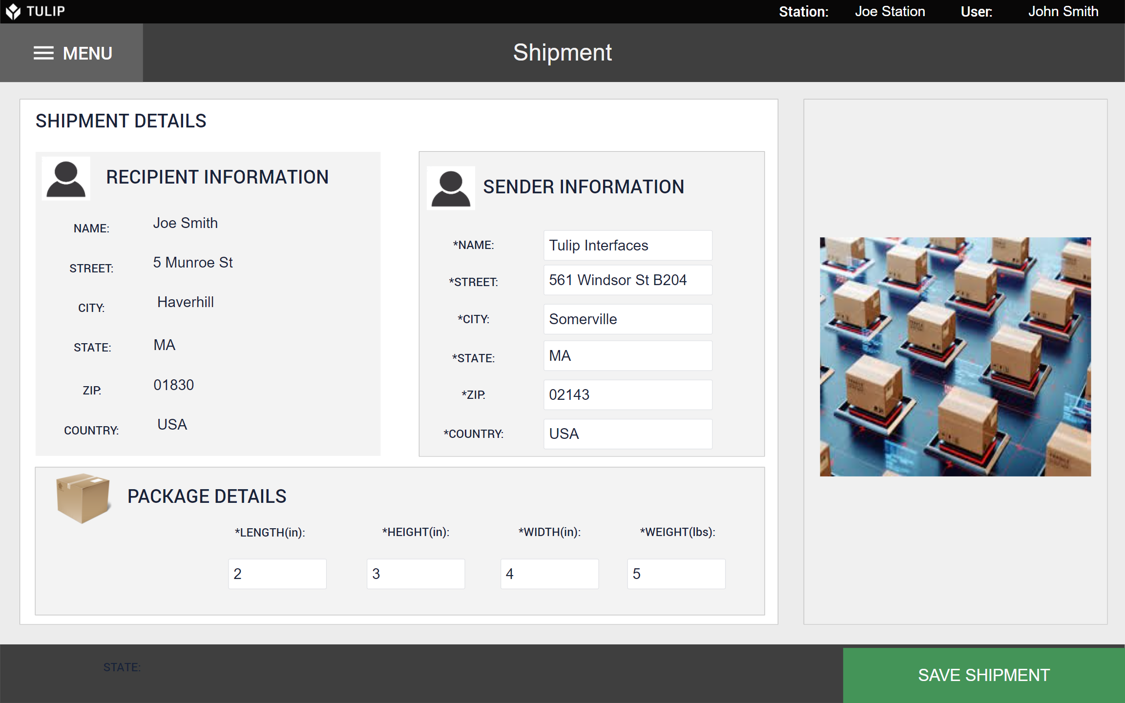 Image of Pack & Ship Workflow app