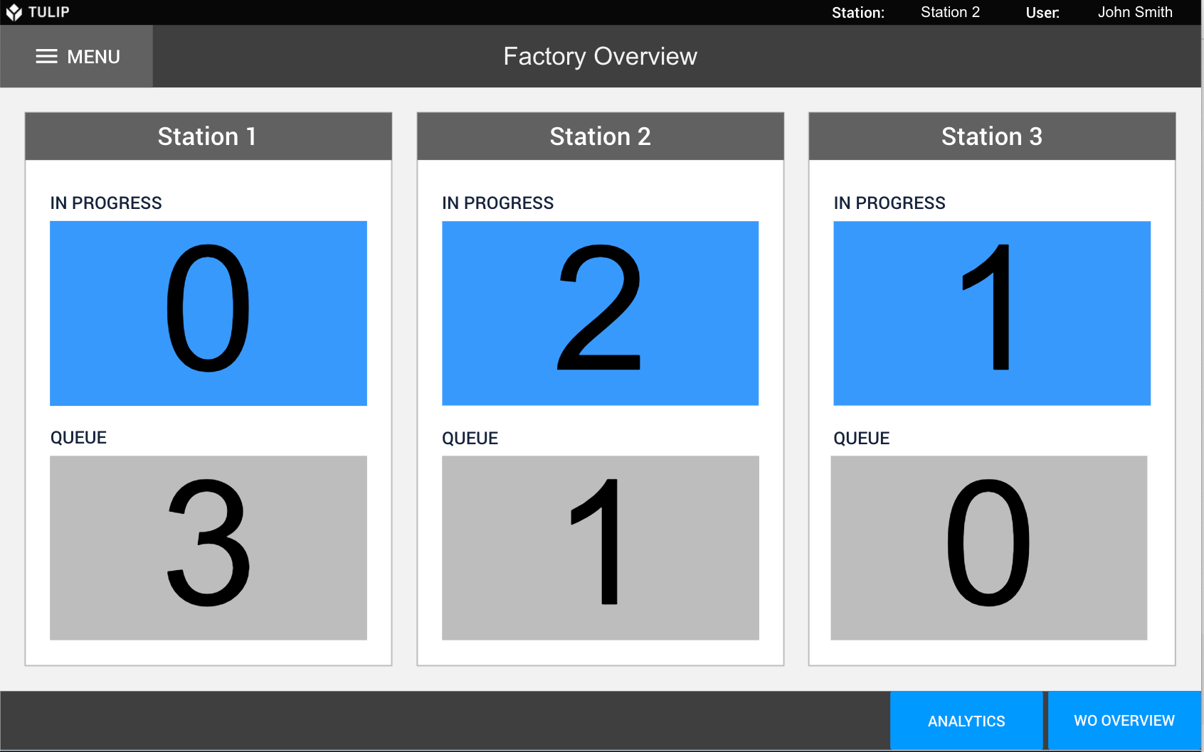 Image of Production Tracking Dashboard app