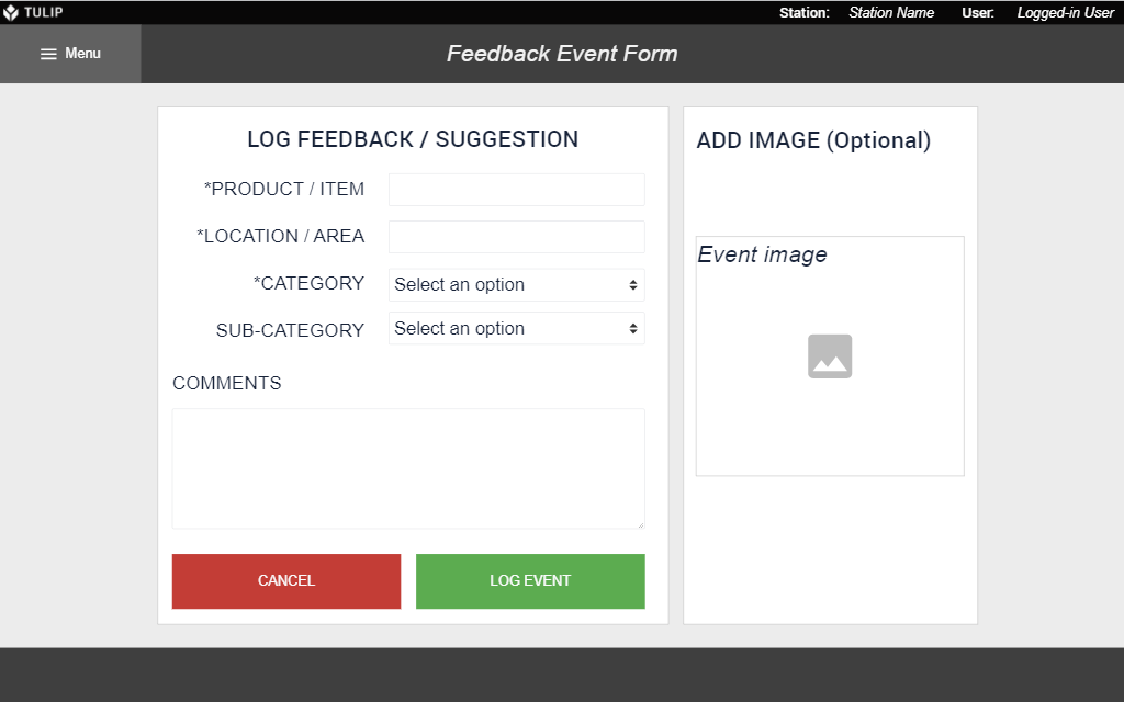 Image of Feedback Event Form app