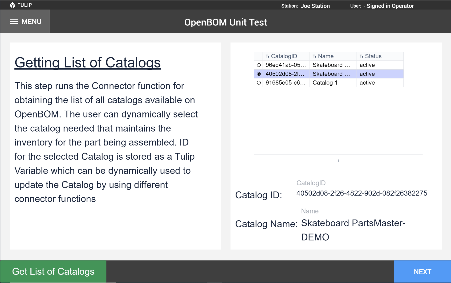 Image of OpenBOM Unit Test app