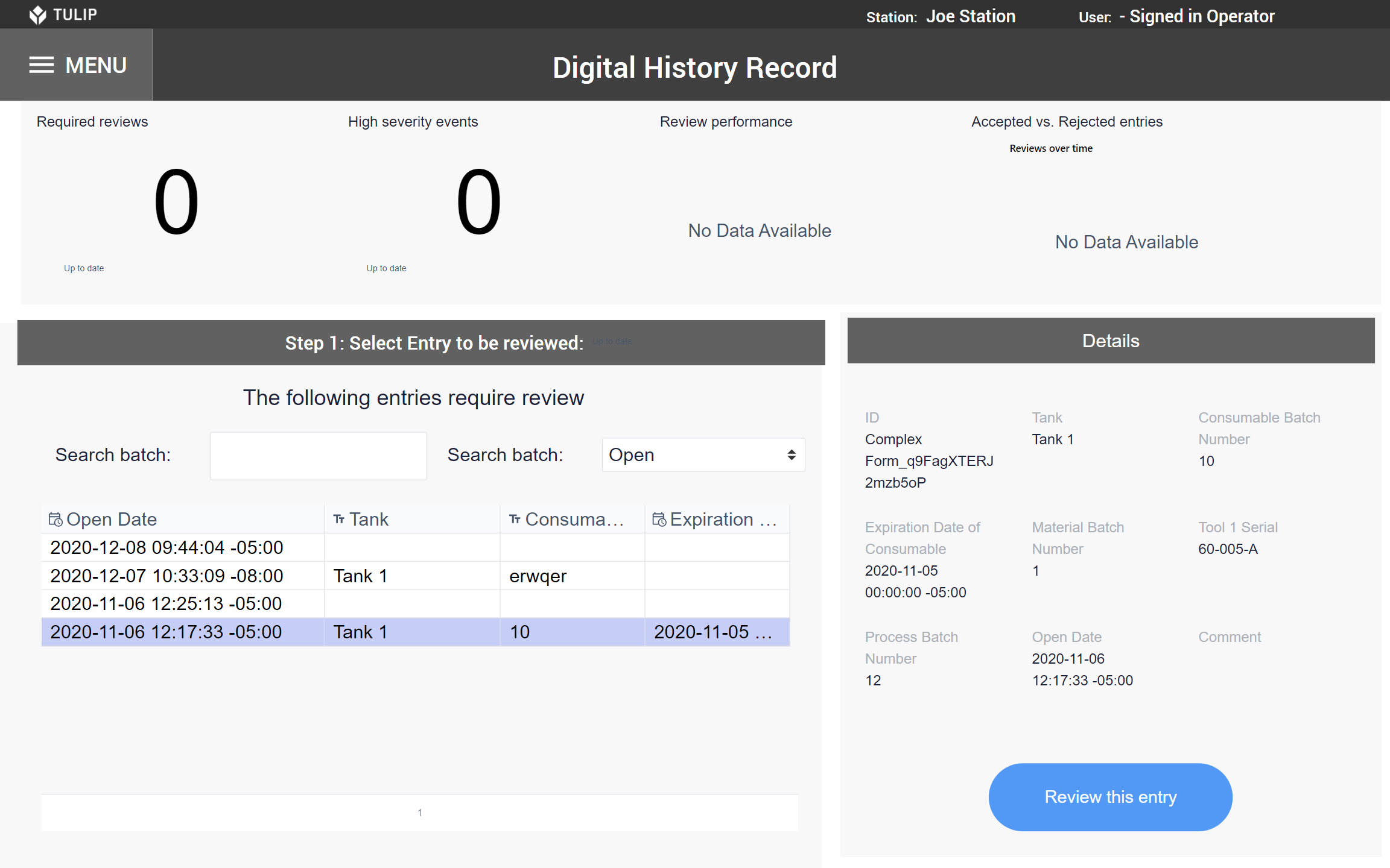 Image of Digital History Record app