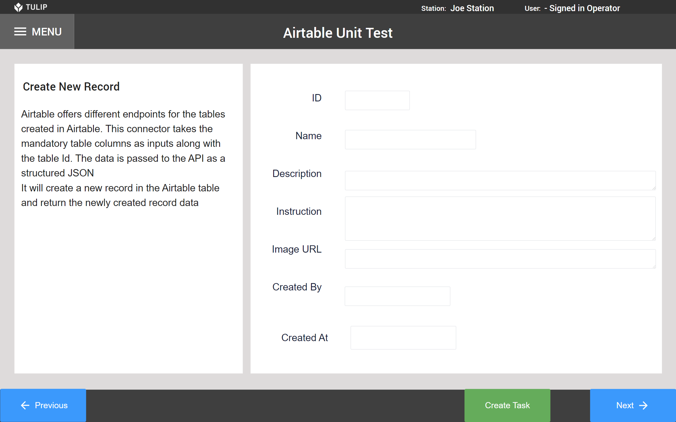 Image of Airtable Unit Test app