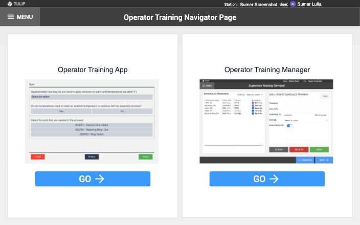 Image of Operator Training app