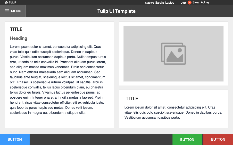 Image of Tulip UI Template app