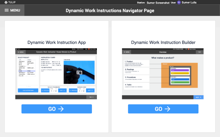 Image of Dynamic Work Instructions app
