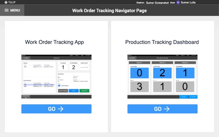 Image of Work Order Tracking app