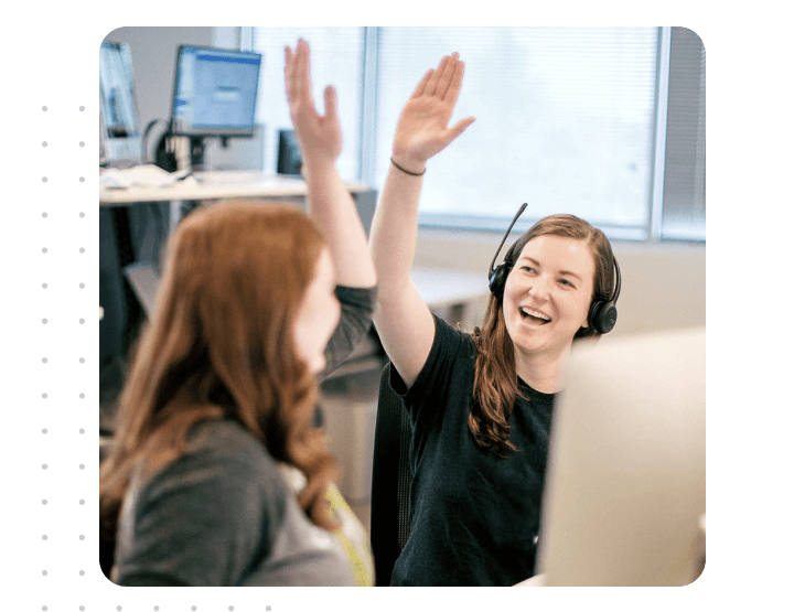 Team work happy employees