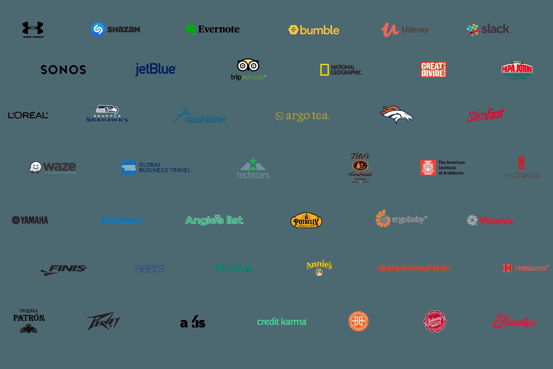 header showcasing brands that have a brandfolder