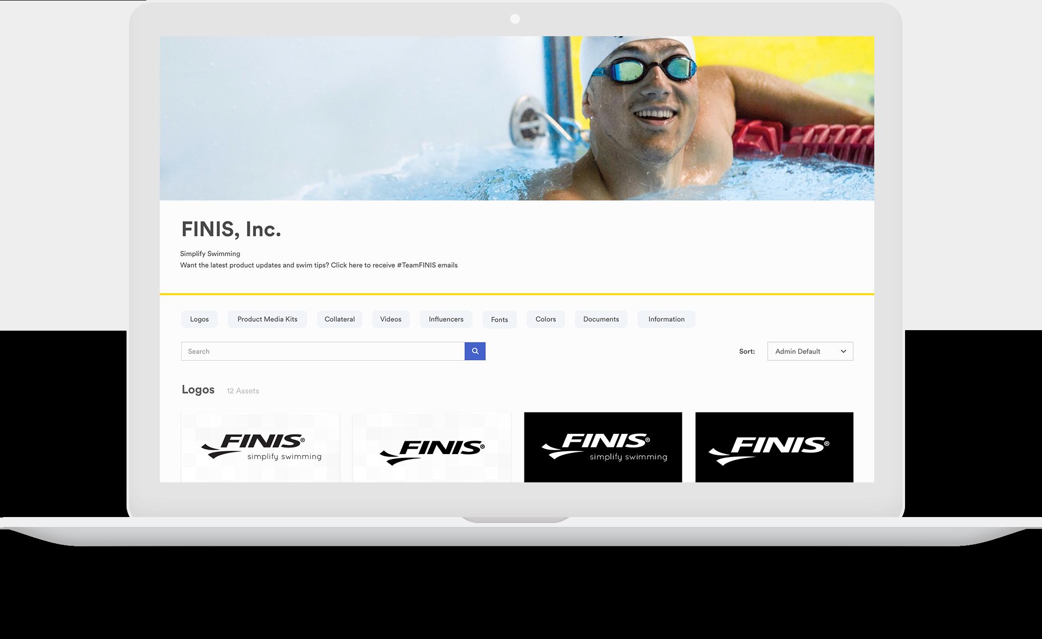 example of FINIS brandfolder