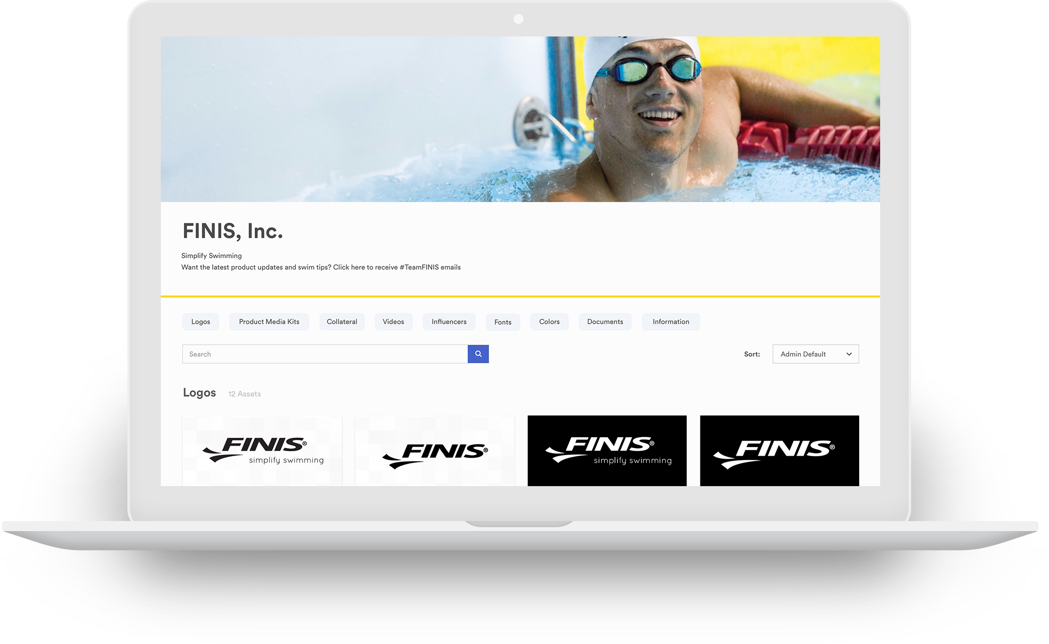 example of FINIS brandfolder