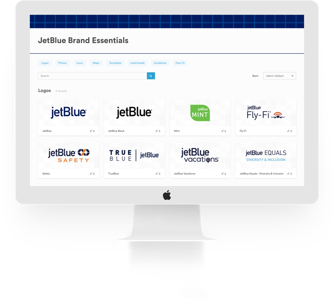example of jetblue brandfolder