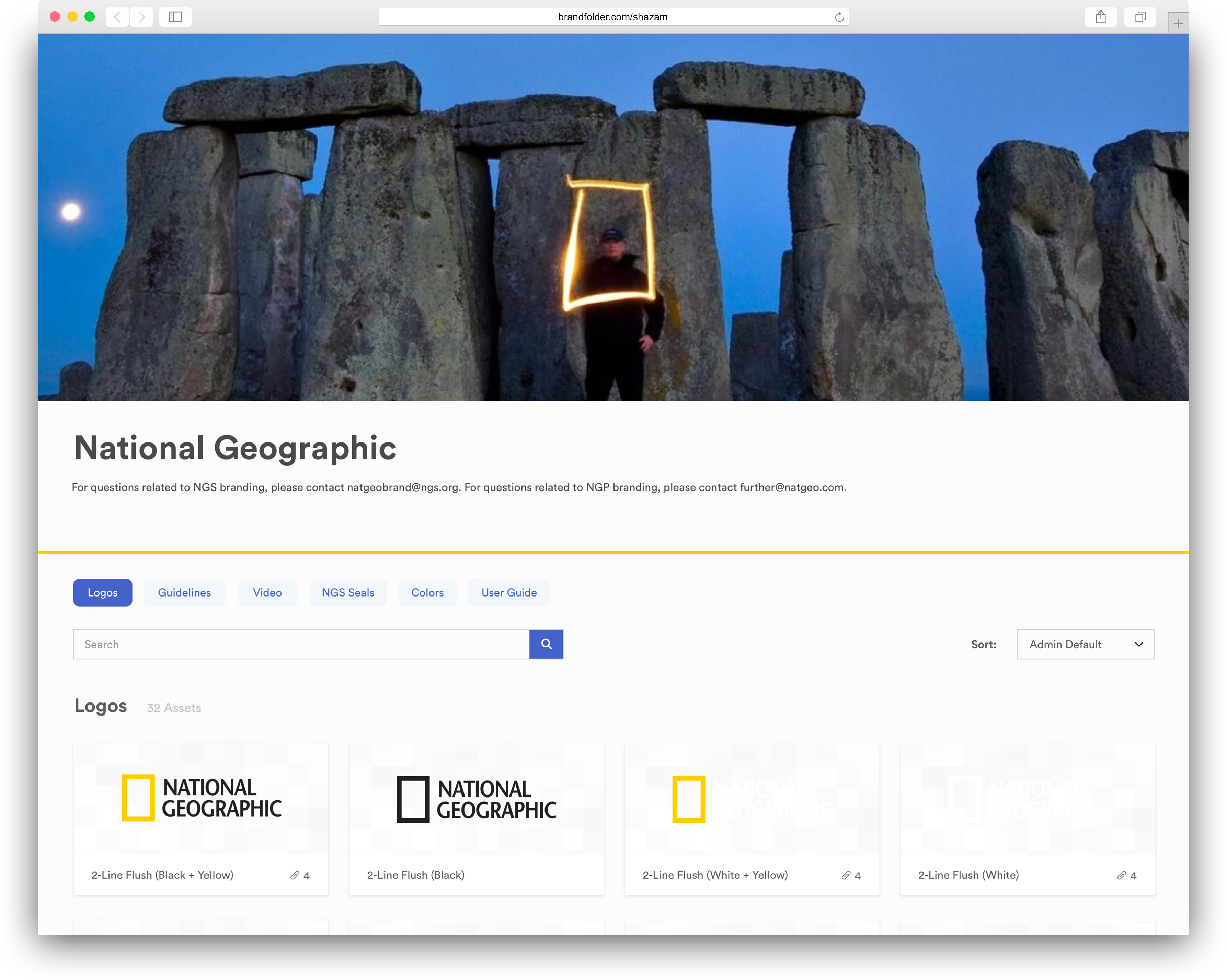 example of national geographic's brandfolder