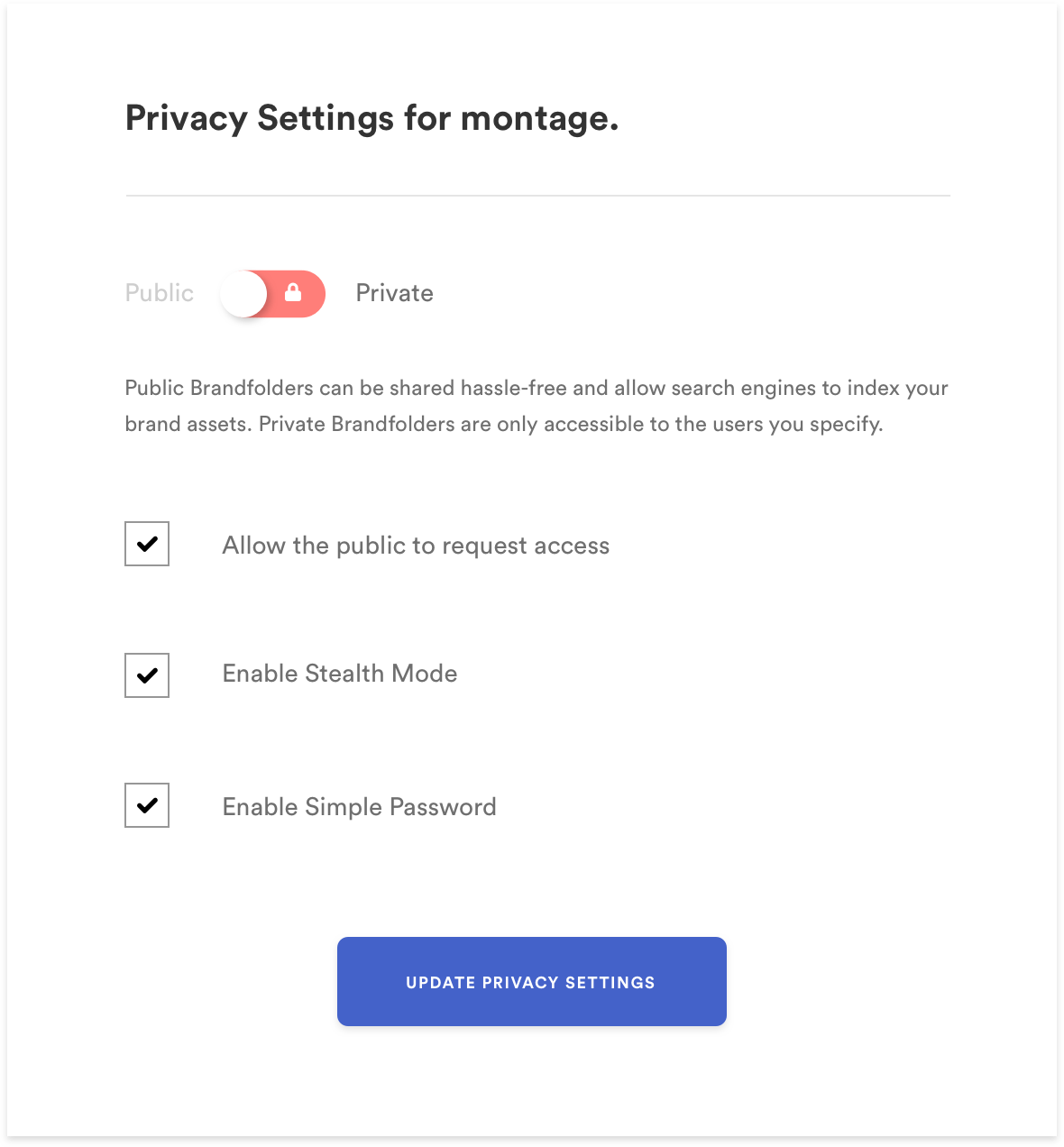 privacy settings example