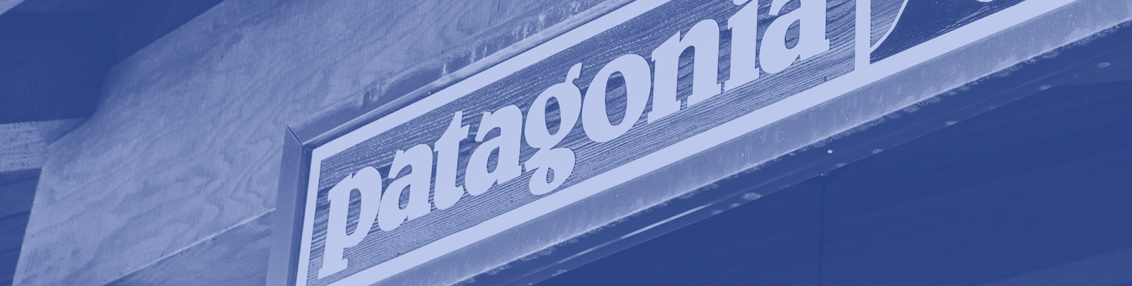 Patagonia store front sign header image