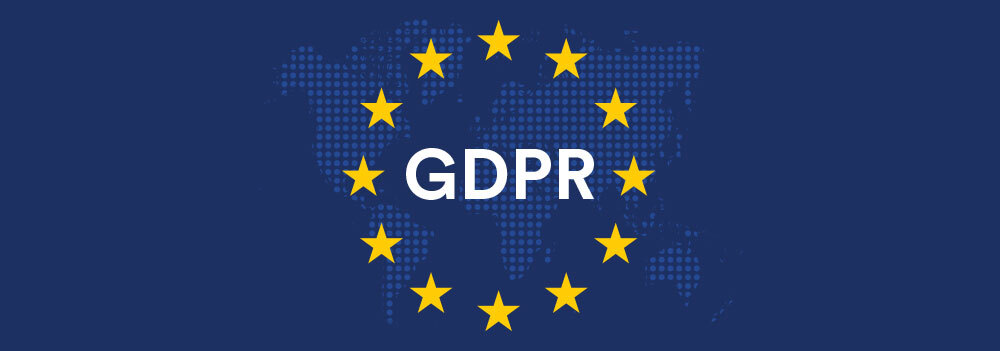 GDPR logo in front of world map