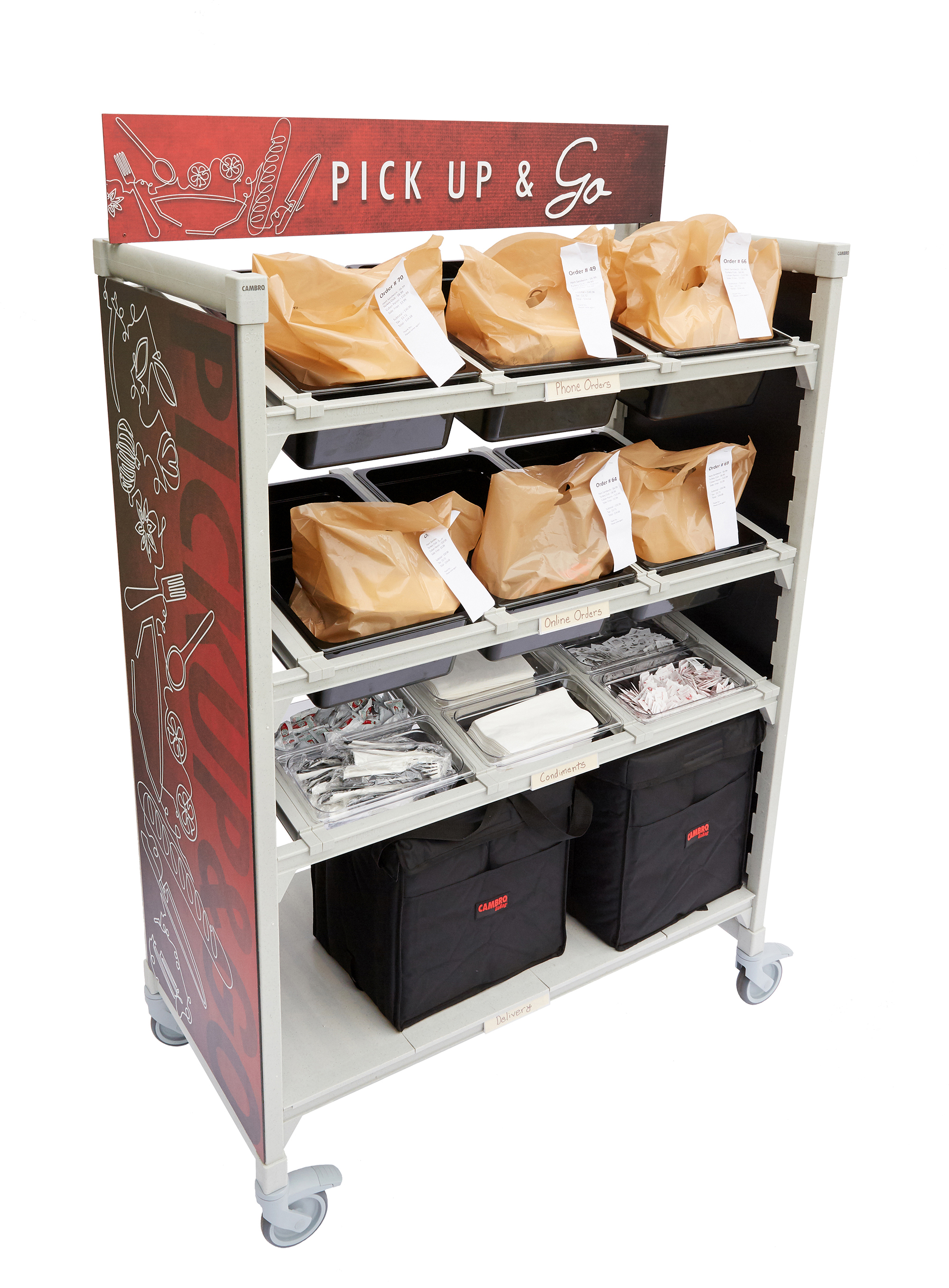 Camshelving Premium® Series Flex Stations for Curbside & Takeout