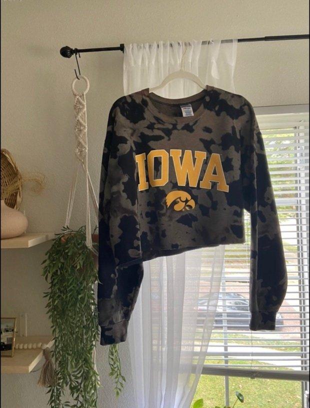 bleach-dyed hawkeye t-shirt