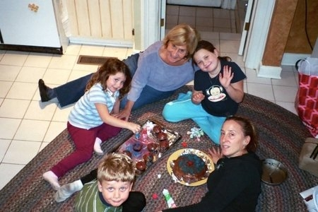Me and my siblings with my grandmother