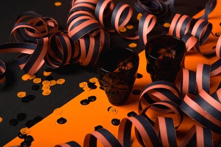 black and orange halloween party decorations