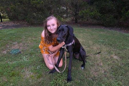 Morgan and her dog Koda
