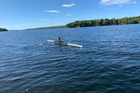 Person rowing