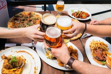 beers cheers over dinner by elevate