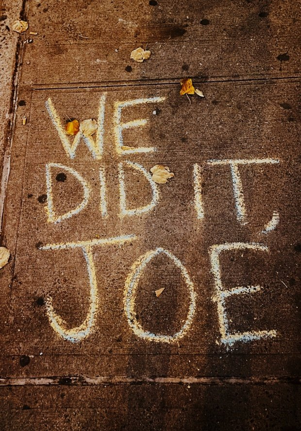 we did it joe election sign
