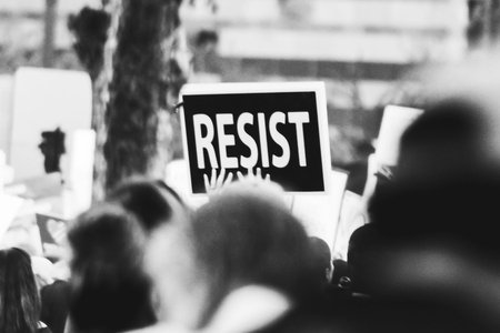 """resist"" protest sign"