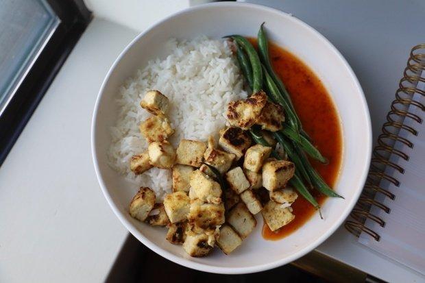 Original photo of tofu recipe I tried