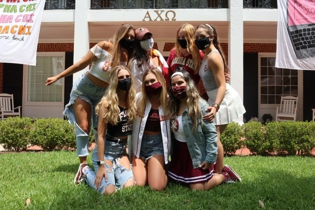 Victoria with sisters-sorority