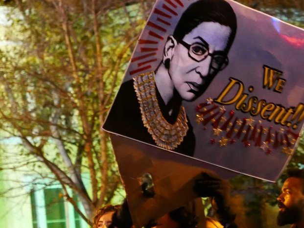 Political Sign with ruth bader ginsburg