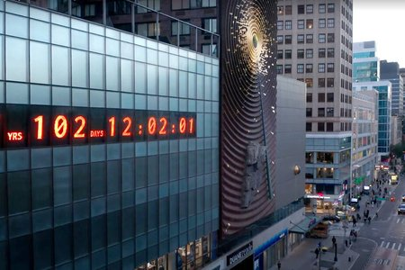 Climate Change Clock in New York