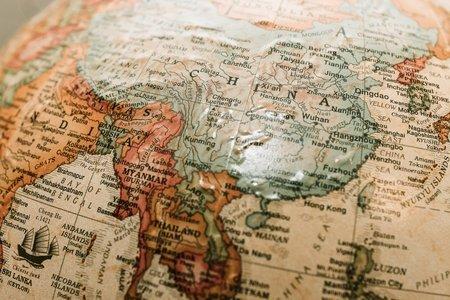 india china on map