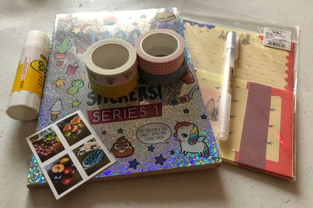 pen pal stickers and stationary