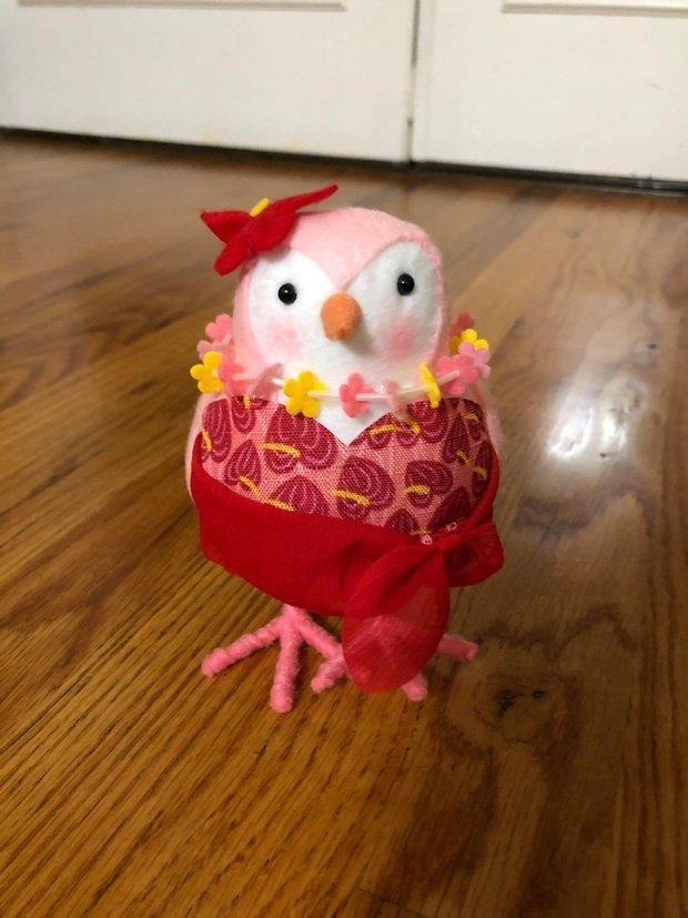 summer decorative bird