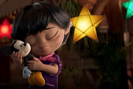 Screenshot from Disney's Christmas Advert 2020 short film