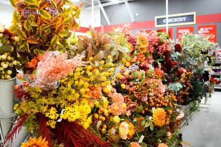 colorful fall flowers from michaels