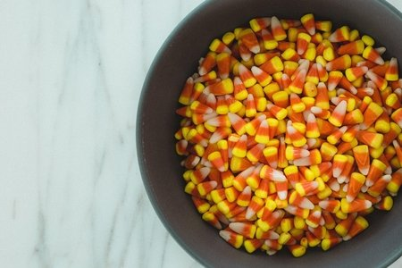 candy corn in bowl
