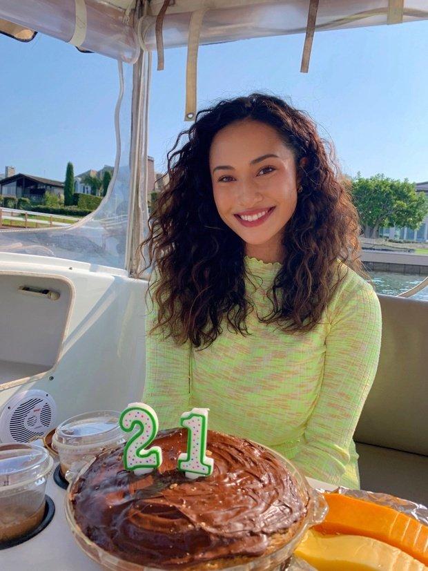 Rebecca with birthday cake