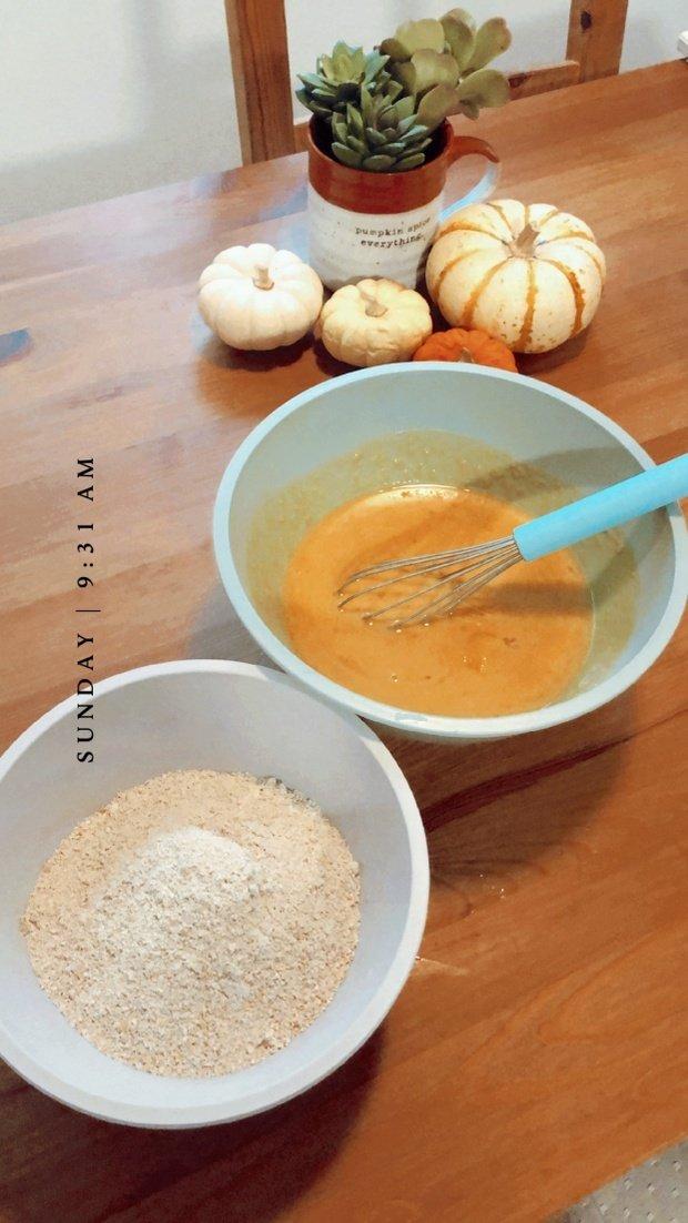 Dry and wet pancake ingredients